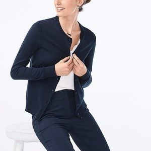 NEW! J. Crew Caryn Navy Blue Cotton Cardigan
